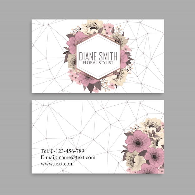 Fower page boarders - red, light blue, white flowers Premium Vector