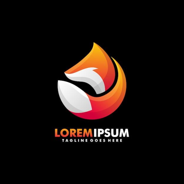 Fox colorful concept illustration vector template Premium Vector