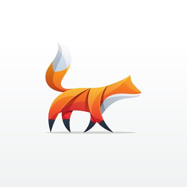 Fox colorful design Premium Vector