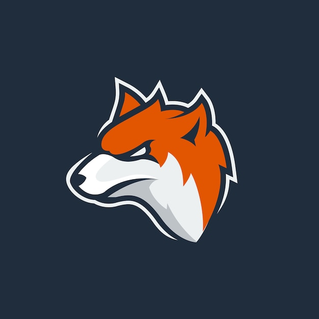 Fox esport mascot logo Premium Vector