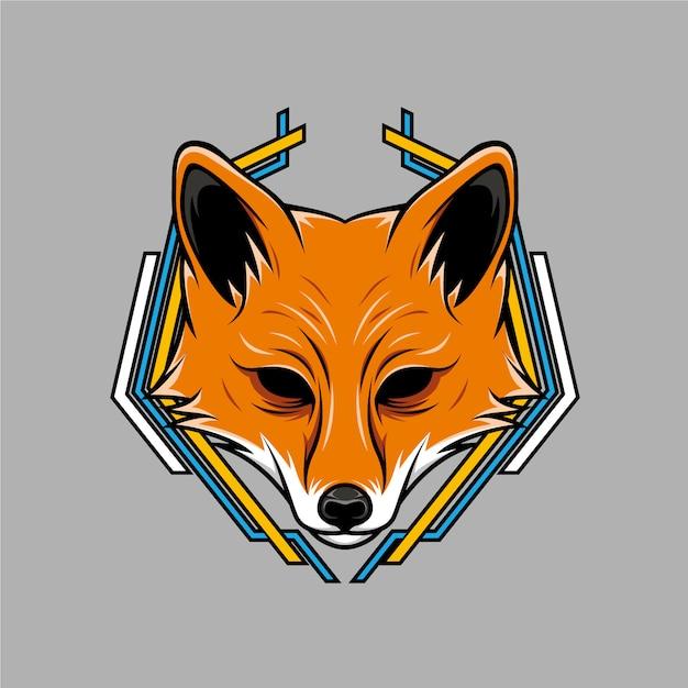 Premium Vector Fox Head Geometric Illustration