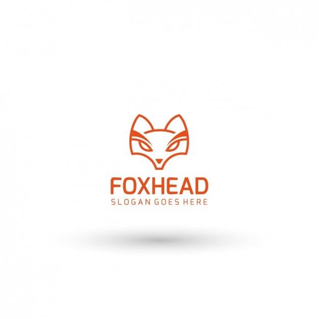 Fox Head Logo Template Free Vector