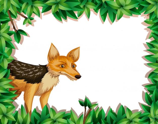 Fox in the jungle Free Vector