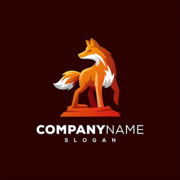 Fox logo design ready to use Premium Vector