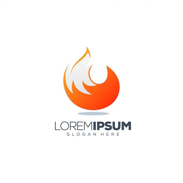 Fox logo design vector illustration ready to use Premium Vector