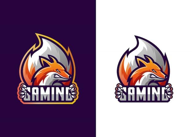 Fox logo gaming template Premium Vector
