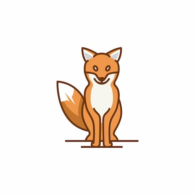 Fox logo template Premium Vector