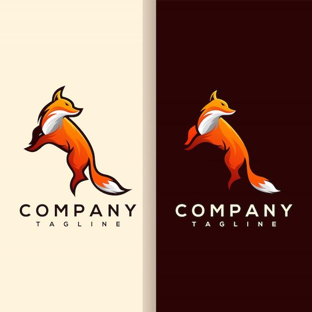 Fox logo vector Premium Vector