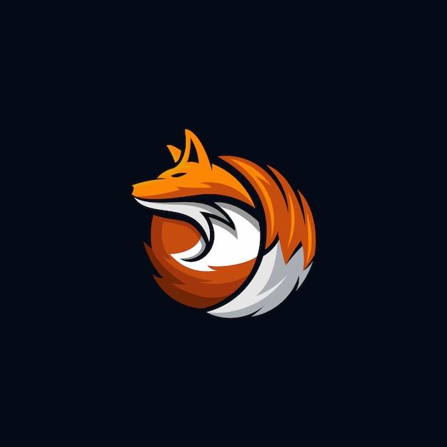 Fox logo Premium Vector