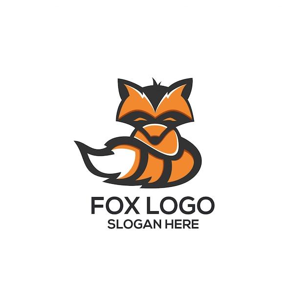 Fox logo Premium векторы