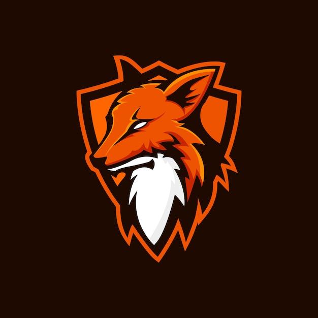 Fox shield logo Premium Vector