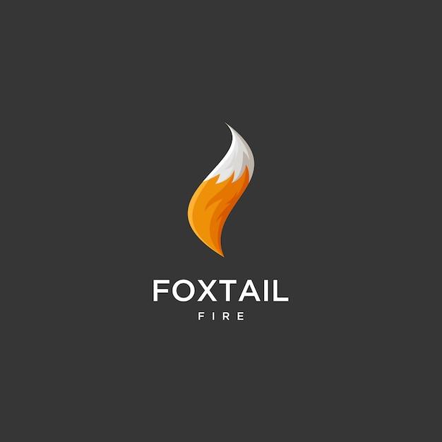 Fox tail fire logo Vector   Premium Download