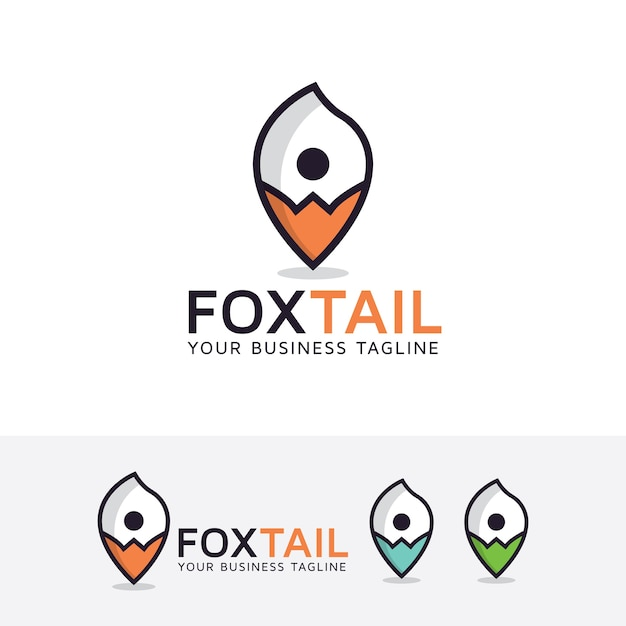 Fox tail point logo template Vector | Premium Download