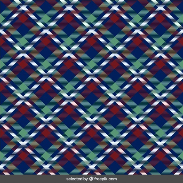 Frabric with tartan pattern Free Vector