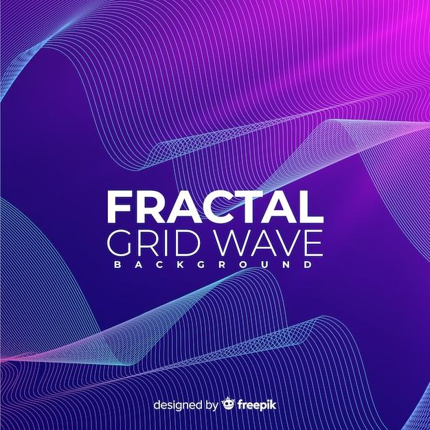 Фрактальная сетка волнового фона Бесплатные векторы