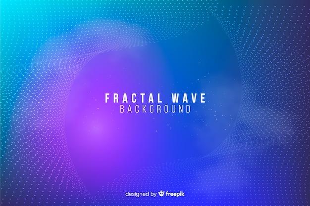 Fractal grid wave background Free Vector