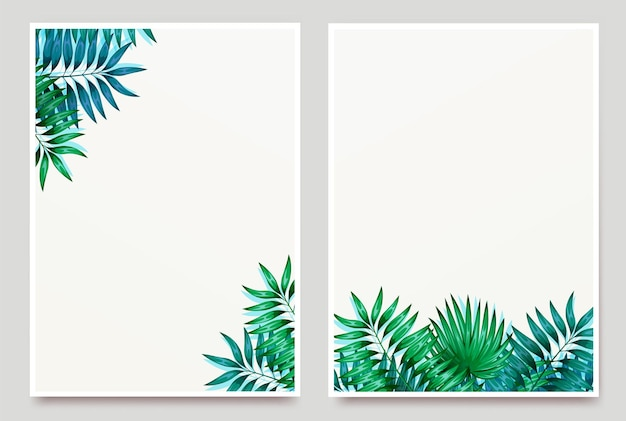 Frame of colorful tropical leaves. concept of the jungle for the design of invitations, greeting ca