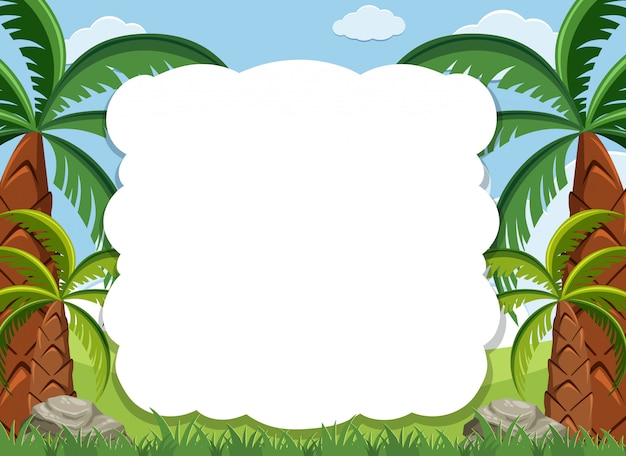 Premium Vector Frame Design Template With Many Trees In Background Here you can explore hq cartoon tree transparent illustrations, icons and clipart with filter setting like size, type, color etc. https www freepik com profile preagreement getstarted 7003494