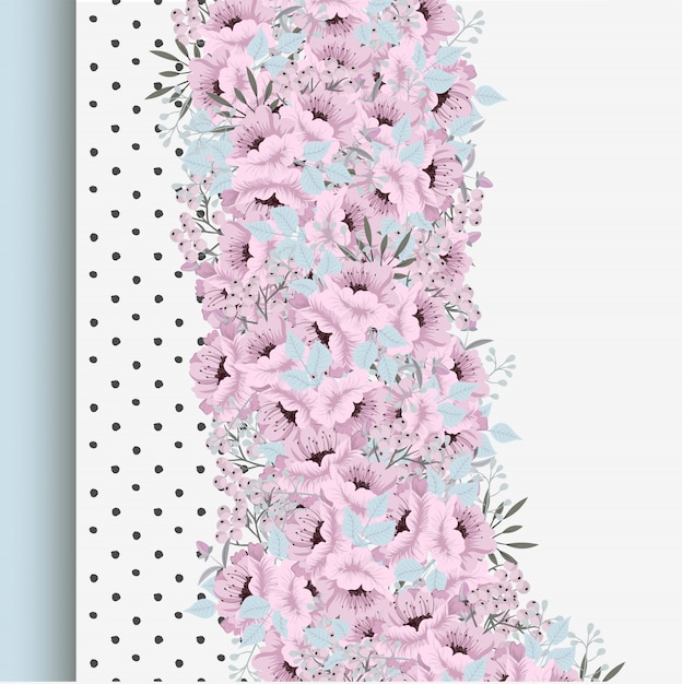 Frame of flowers Free Vector