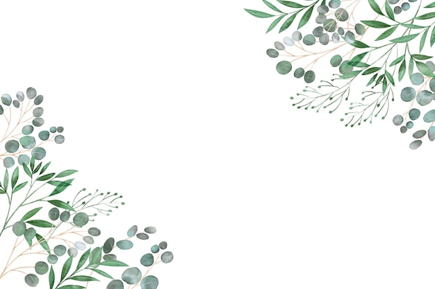 Frame of leaves copy space Premium Vector