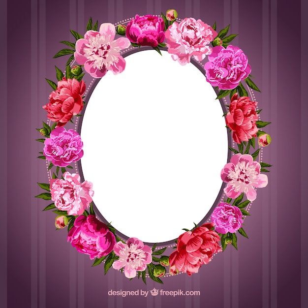 Frame made of flowers Vector | Free Download