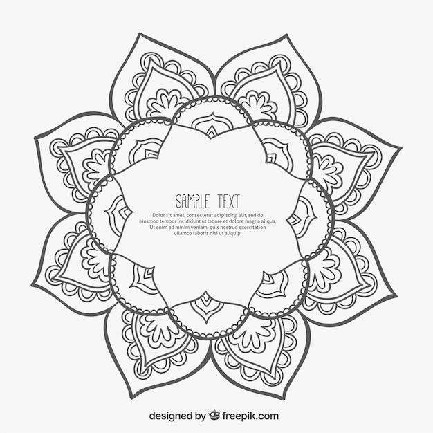 frame in mandala style vector