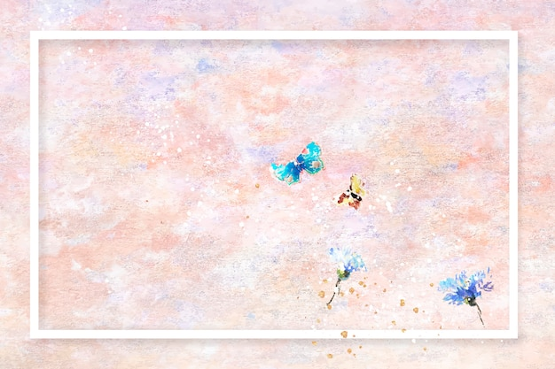 Frame on pastel painting frame Free Vector