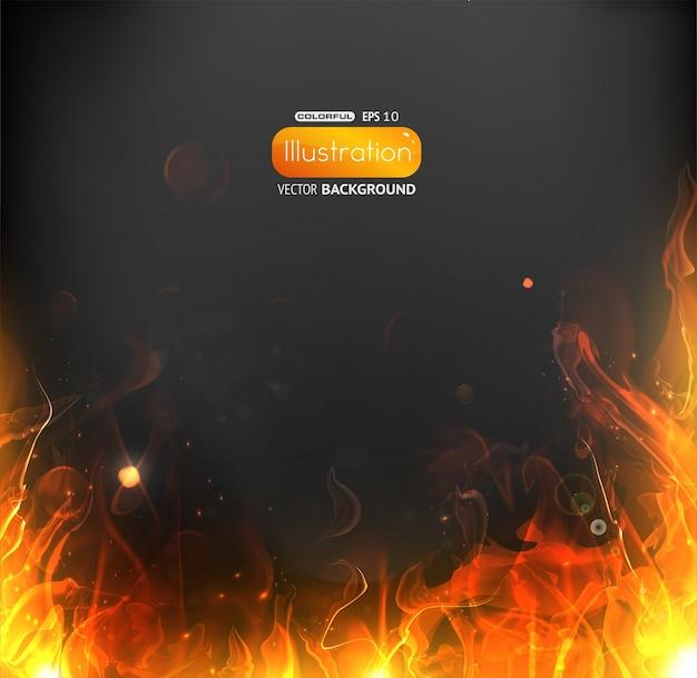 Frame shiny black burnt hot Premium Vector