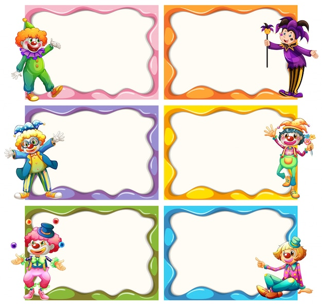 frame template with jesters vector free download