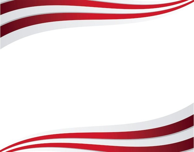Frame of united state american flag Premium Vector