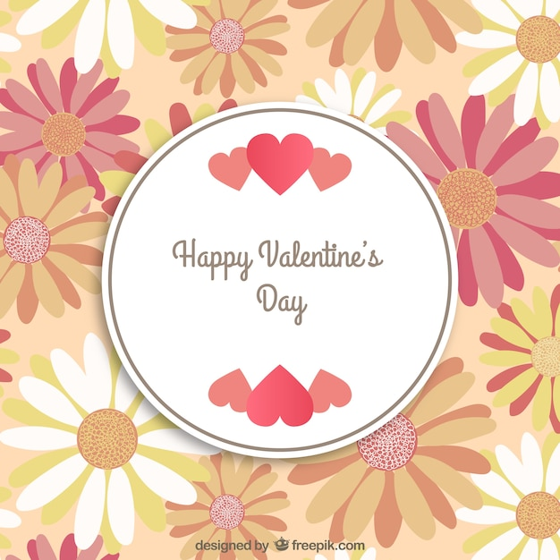 frame with flowers. happy valentines day vector | free download, Ideas