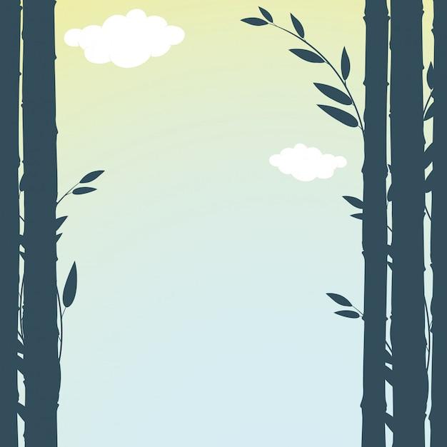 緑の竹のフレーム 無料ベクター
