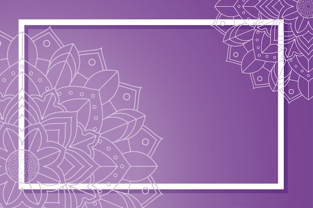 Frame with mandala decorations Free Vector