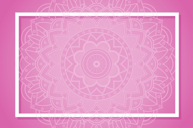 Frame with mandala designs Free Vector