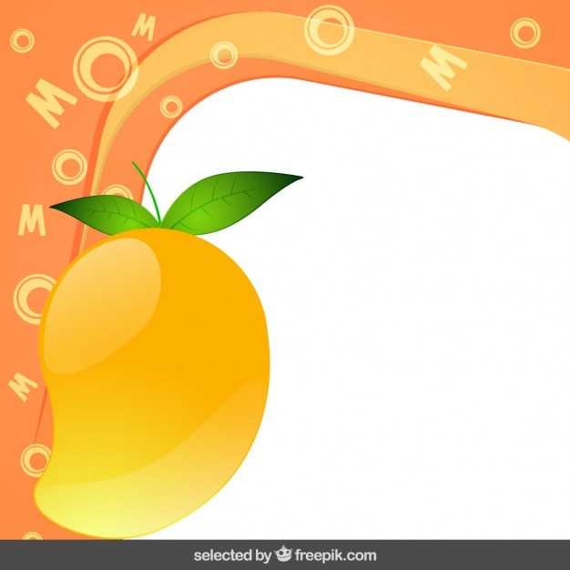 Frame with mango Free Vector