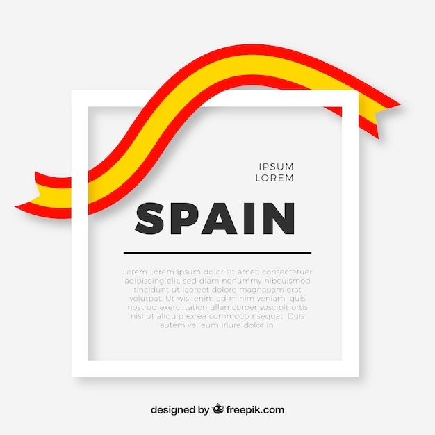 Frame with spanish flag Free Vector