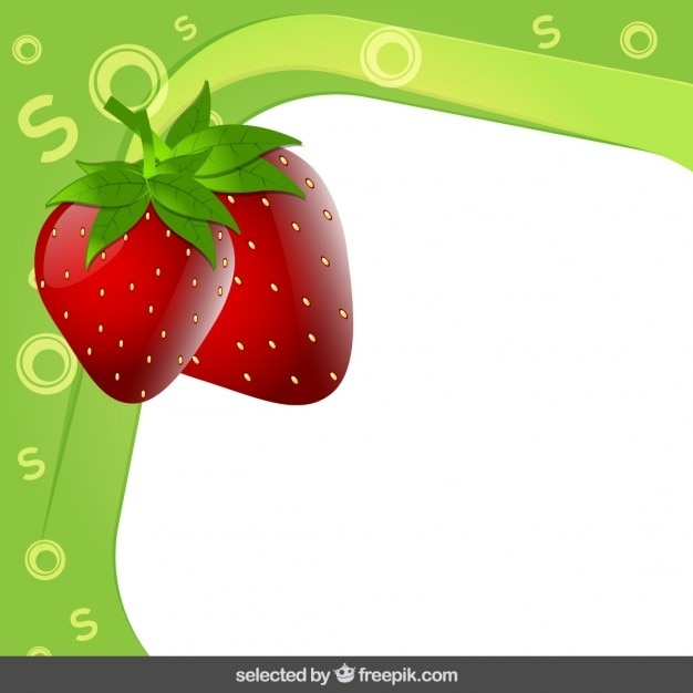 Frame with strawberry Vector | Free Download