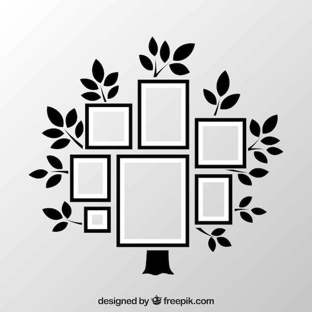 Frames As Collage On Tree Vector