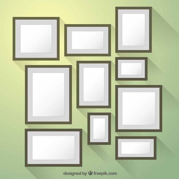 Frames collection in flat design style Vector | Free Download