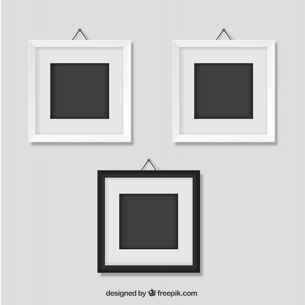 Frames On Wall frames hanging on wall vector | free download