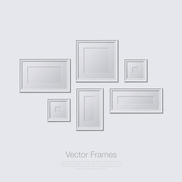 Frames illustration in flat design monochrome Premium Vector