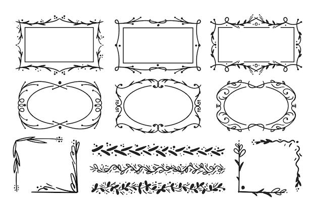 Рамки, изолированные на белом фоне Premium векторы