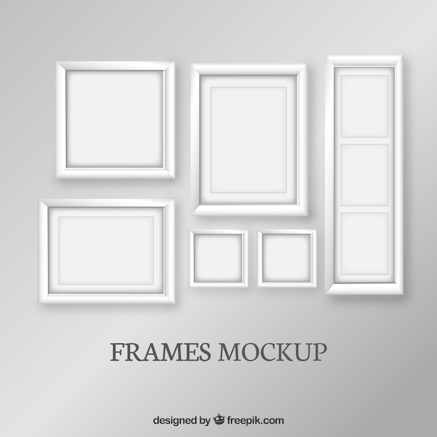 Frames mockup set Vector | Free Download