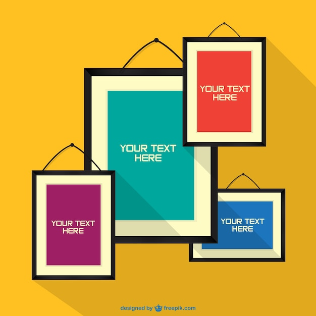 frames on wall design free vector - Wall Picture Design