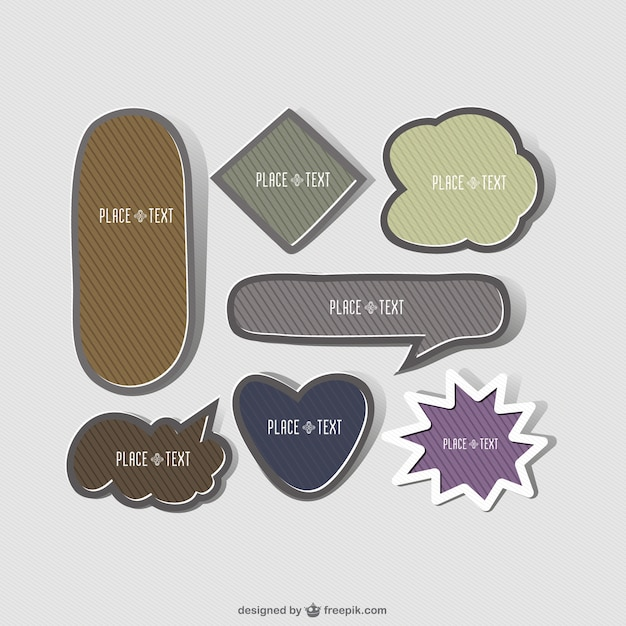 Frames stickers creative shapes set Vector   Free Download