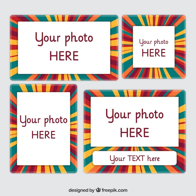 Frames with full color stripes Vector | Free Download