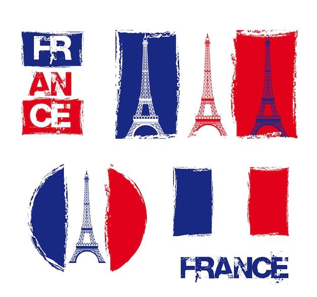 France design over white background, vector illustration Premium Vector