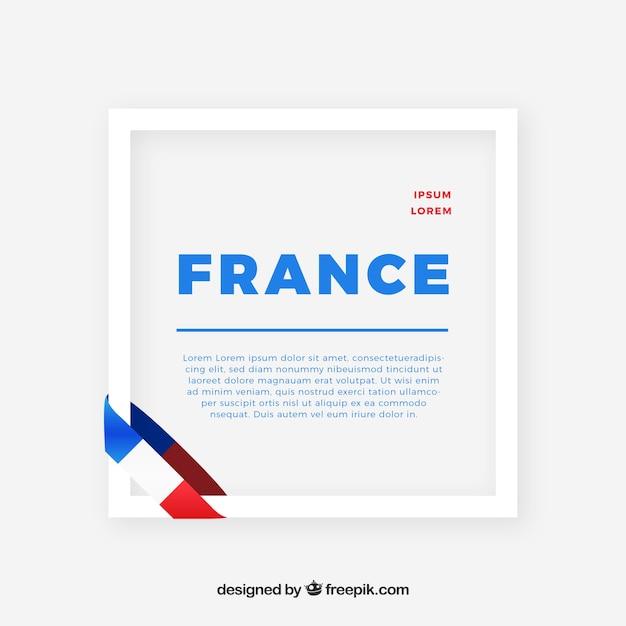 France frame Free Vector