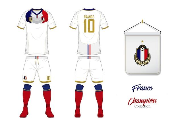 France Soccer Jersey Or Football Kit Mockup Vector Premium Download