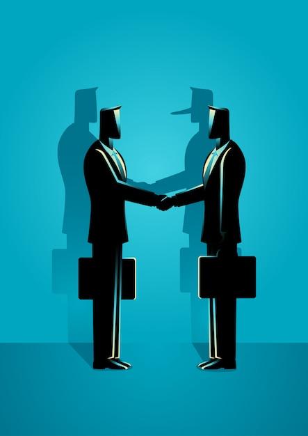 Fraud agreement concept Premium Vector